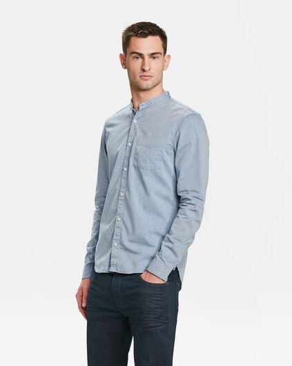 HEREN SLIM FIT CHAMBRAY OVERHEMD Lichtblauw