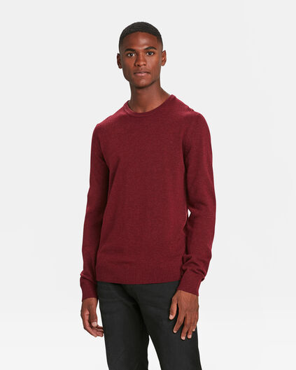 PULL LAMBSWOOL HOMME Bordeaux