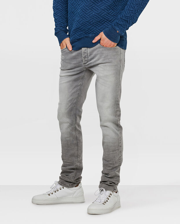 JOG DENIM SKINNY TAPERED SUPER STRETCH HOMME Gris