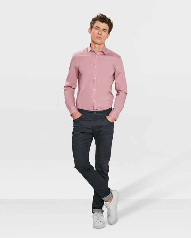 CHEMISE STRETCH HOMME Rose clair