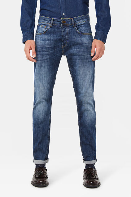 Jeans regular fit comfort stretch homme Bleu