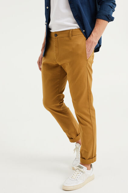 Heren slim fit chino Khaki