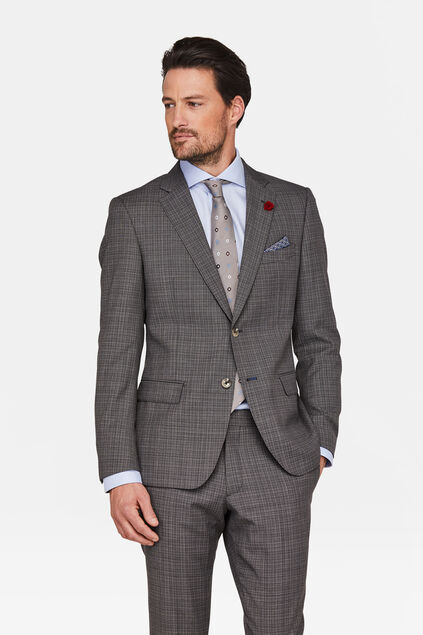 BLAZER SLIM FIT PERRINE HOMME Gris