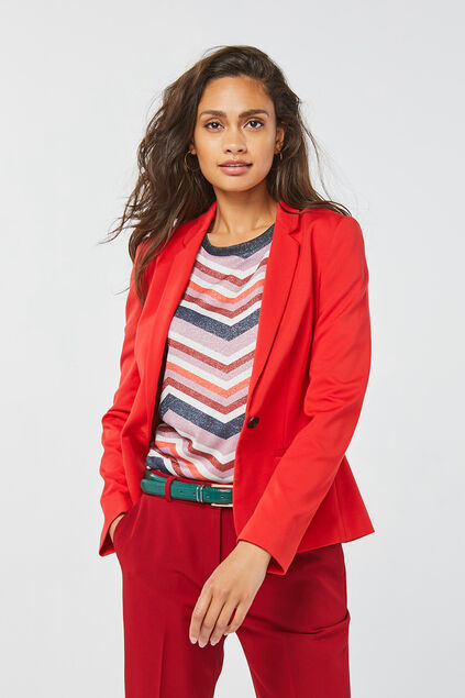 Blazer regular fit femme Rouge vif