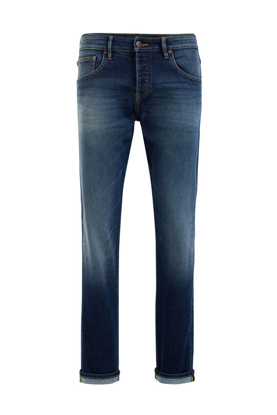Heren athletic fit jeans Donkerblauw