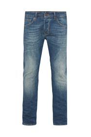 Heren tapered fit super stretch jeans_Heren tapered fit super stretch jeans, Blauw