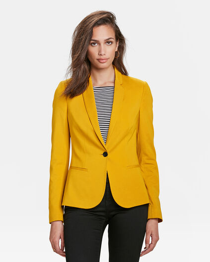 DAMES JERSEY SLIM FIT BLAZER Geel