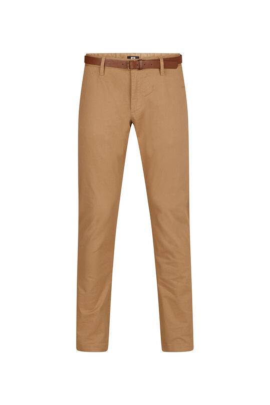 Heren slim tapered chino Bruin