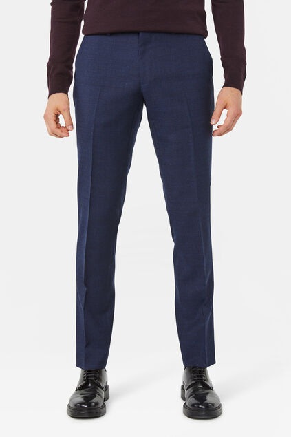Heren slim fit pantalon Merrill Marineblauw
