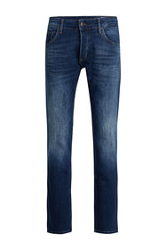 Heren slim fit jog denim jeans_Heren slim fit jog denim jeans, Donkerblauw