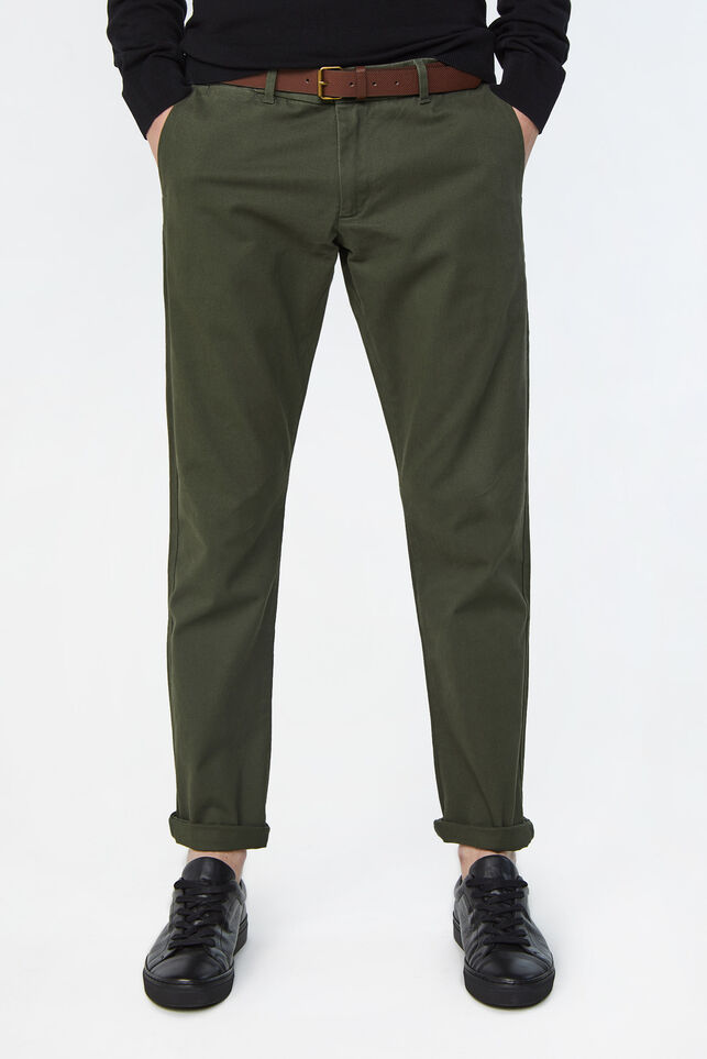 Heren uni slim fit chino Legergroen