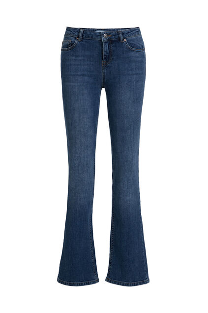 Dames mid rise bootcut jeans Blauw