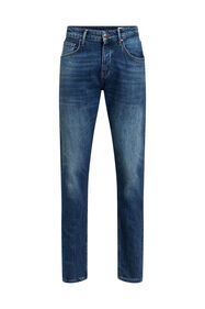 Heren tapered fit jeans_Heren tapered fit jeans, Donkerblauw