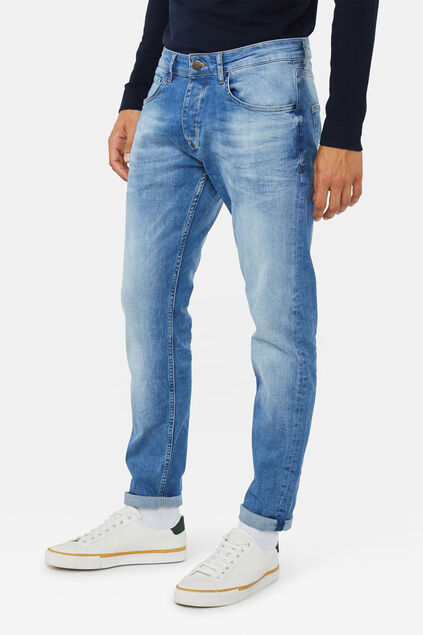 Jeans slim tapered stretch homme Bleu eclair
