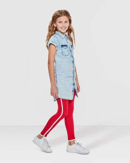 LEGGING SOLID FILLE Rouge
