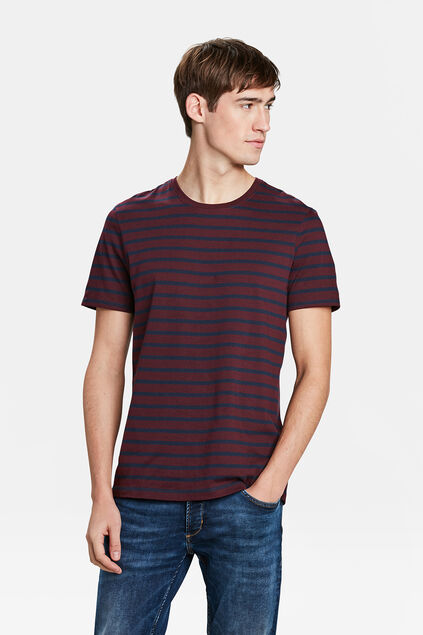 T-SHIRT RAYÉ HOMME Rouge