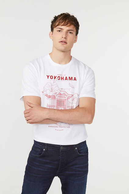 T-shirt Blue Ridge homme Blanc