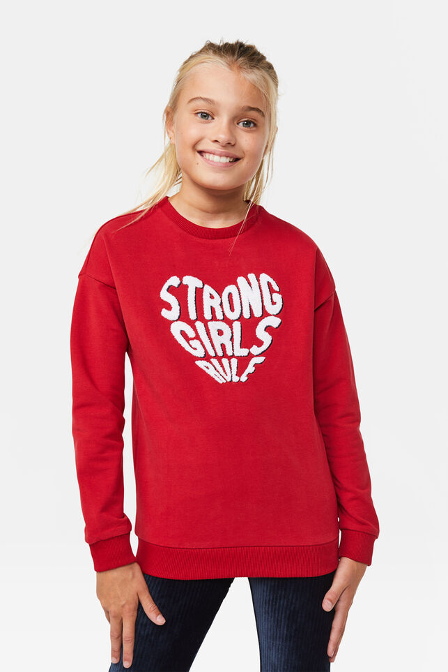 Sweat-shirt strong fille Rouge