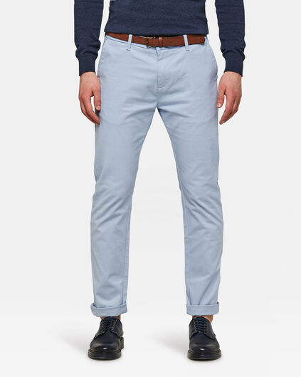 HEREN SKINNY FIT CHINO IJsblauw
