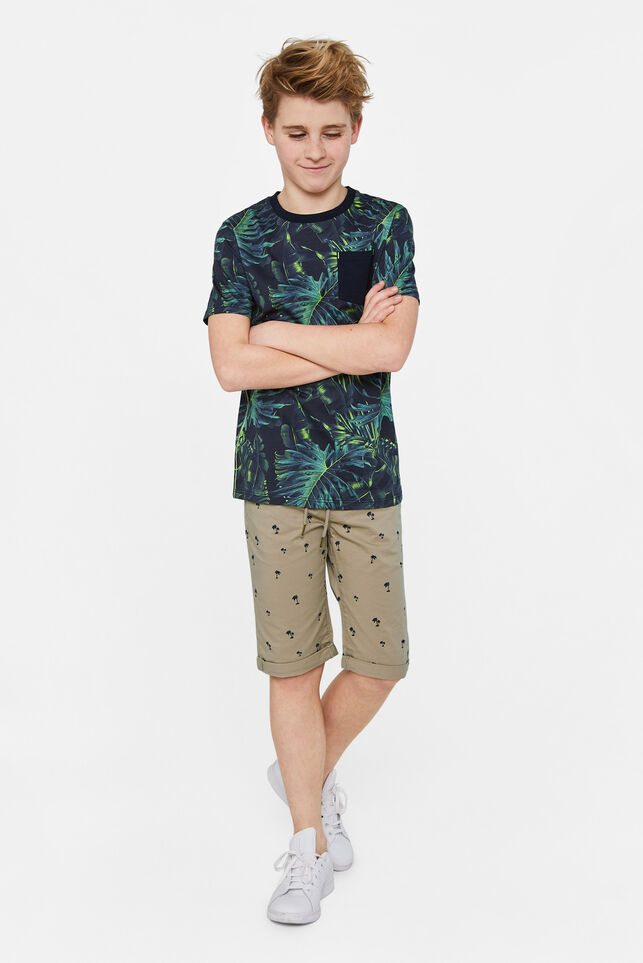Jongens slim fit short met dessin All-over print