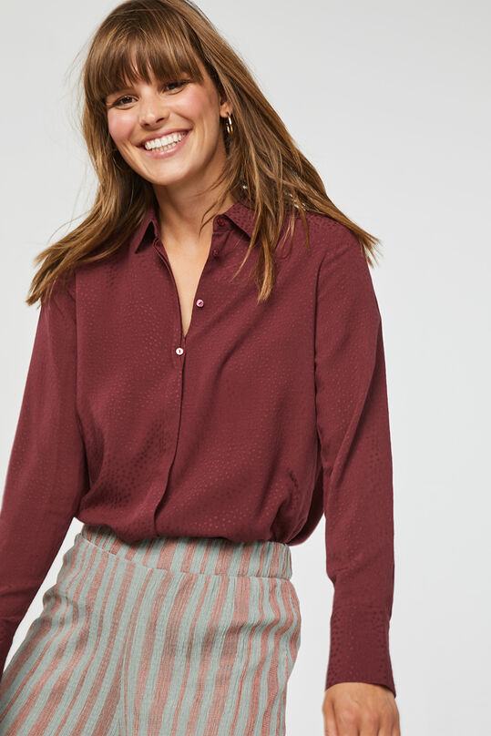 Dames dessin blouse Donkerpaars