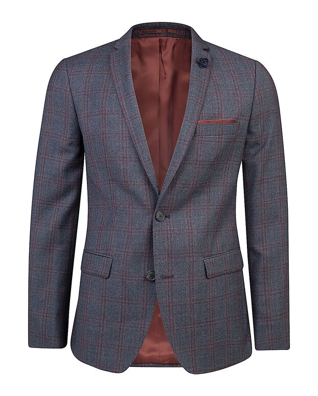 HEREN CHECKED SLIM FIT BLAZER DRONFIELD Donkerblauw