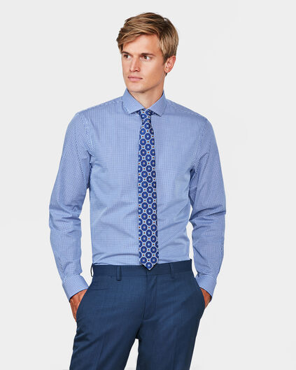 HEREN SLIM FIT EASY CARE OVERHEMD Blauw