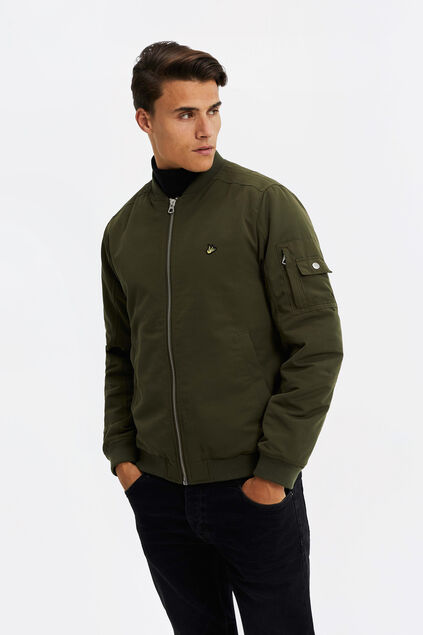 Heren bomber jacket Legergroen