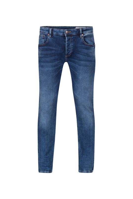 Heren slim fit jog denim jeans Blauw