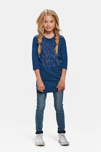 TUNIQUE FOREVER EMBROIDERY FILLE Bleu