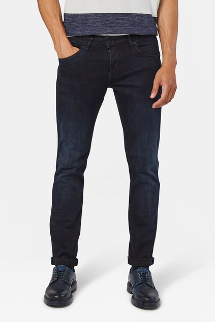 Jeans slim tapered super stretch homme Bleu foncé
