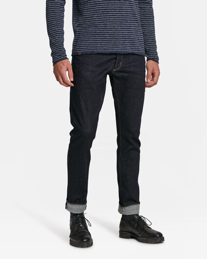 JEANS SLIM TAPERED SELVEDGE HOMME Bleu