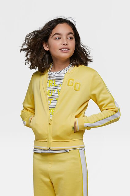 Veste sweat Go Girl fille Jaune