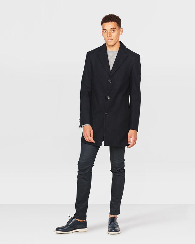 MANTEAU SLIM FIT HOMME Noir