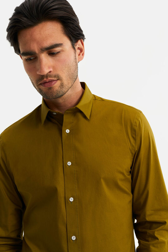 Chemise slim fit stretch homme Vert olive