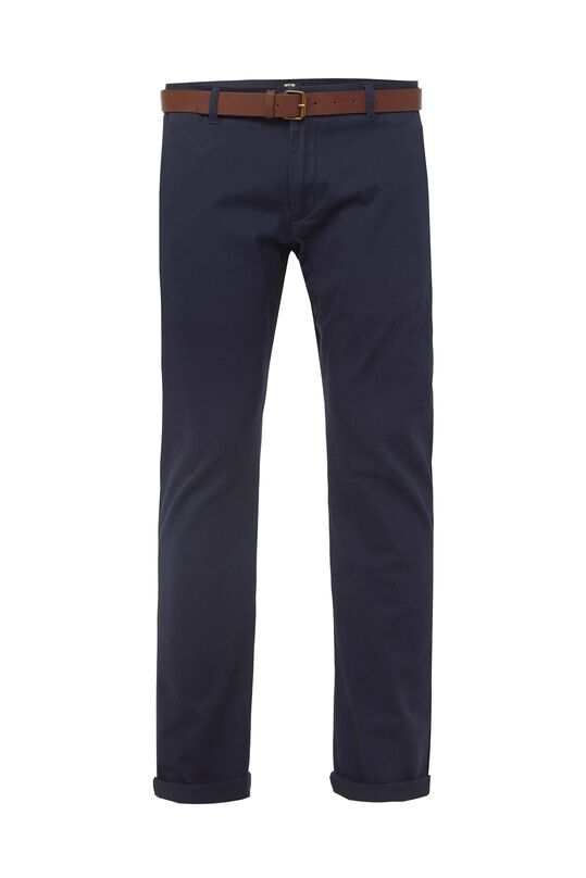 Heren uni slim fit chino Donkerblauw