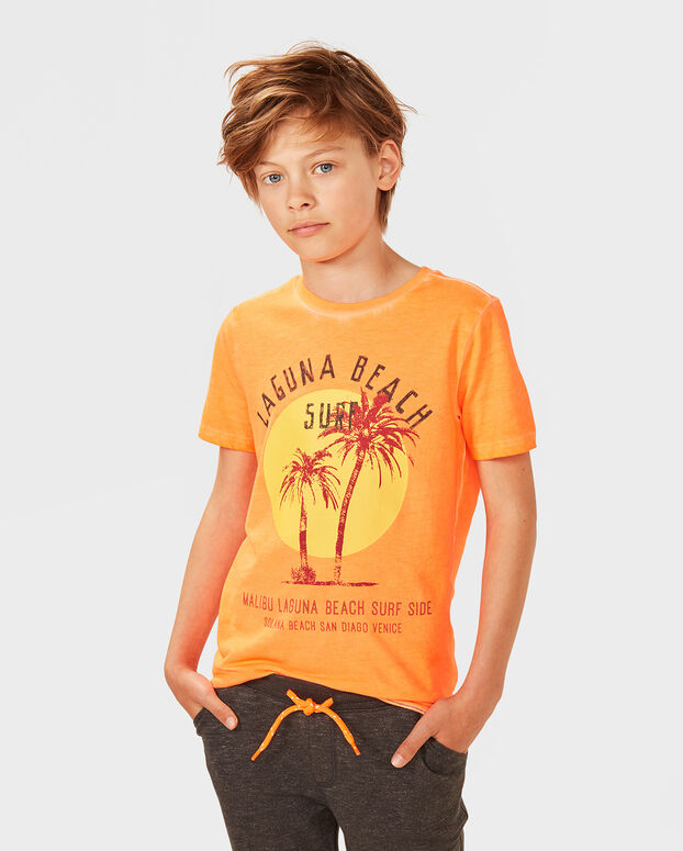 T-SHIRT LAGUNA BEACH GARÇON Orange