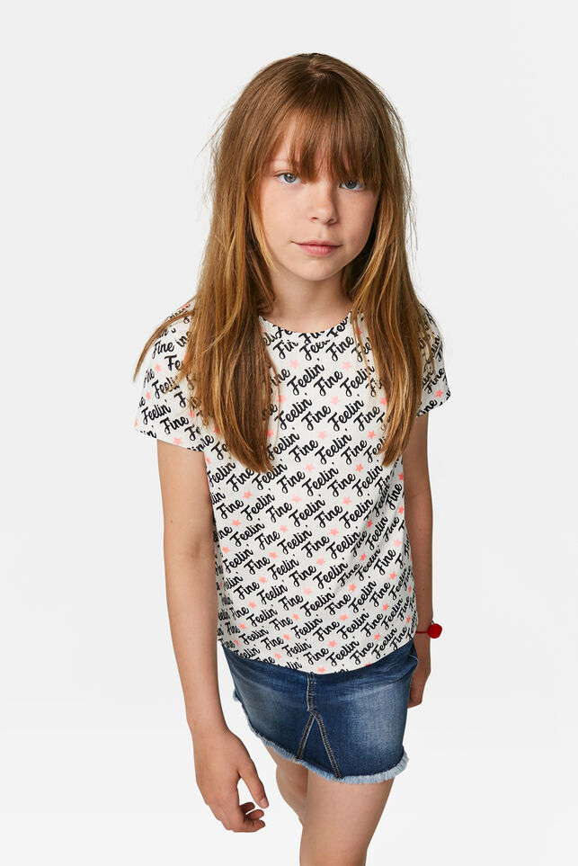 Meisjes sterrenprint T-shirt Wit