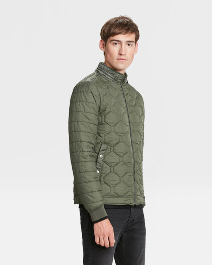 HEREN LIGHTWEIGHT QUILTED JACKET Legergroen