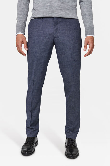 Heren regular fit pantalon Corvallis Blauw