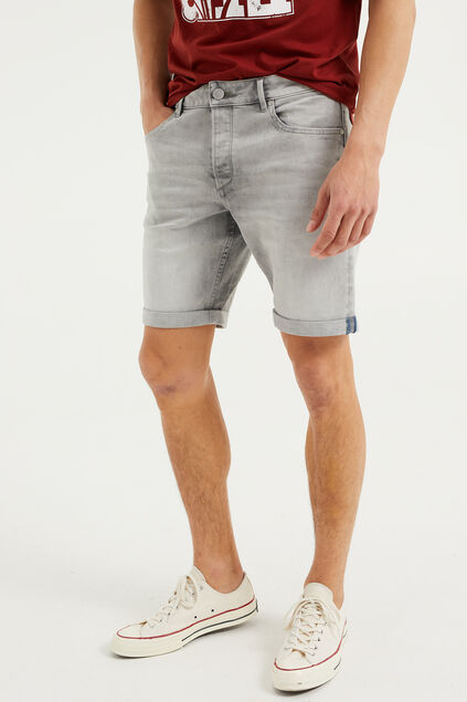 Short denim homme Gris clair