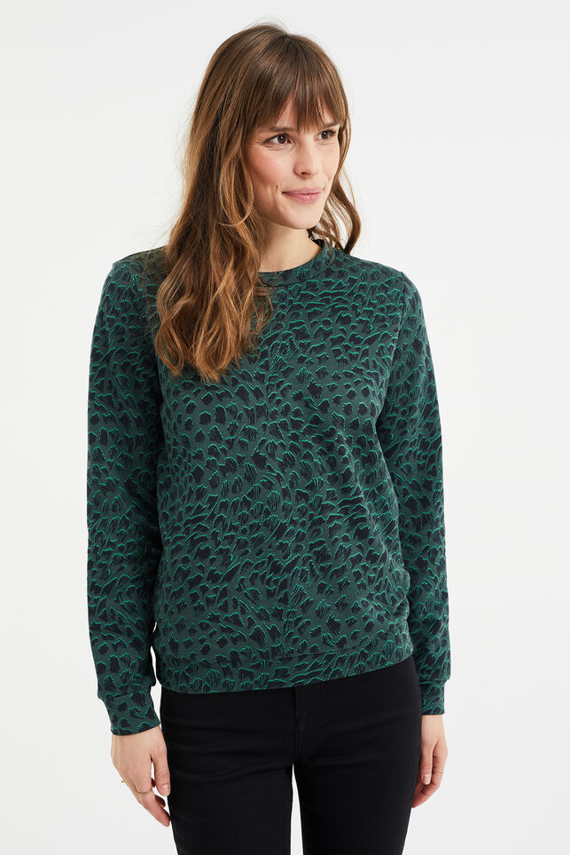 Dames sweater met dessin All-over print