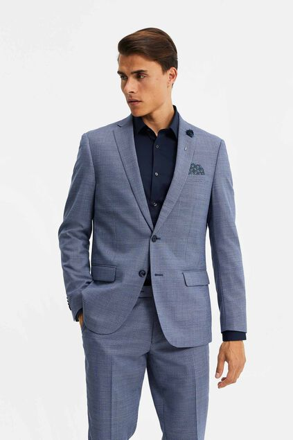 Heren regular fit blazer, Jackson Donkerblauw