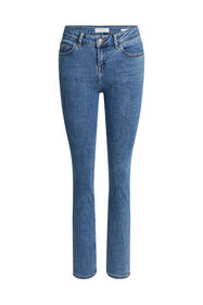 Dames mid rise slim fit jeans met super stretch_Dames mid rise slim fit jeans met super stretch, Blauw