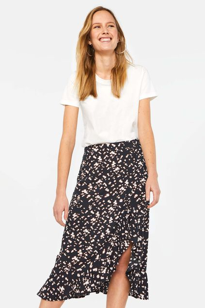 Dames rok met volants All-over print