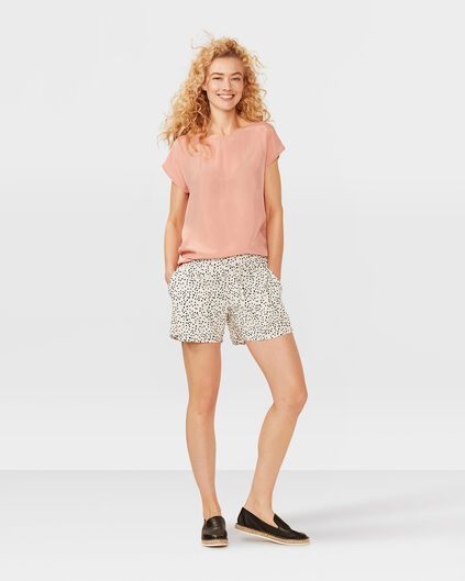 DAMES GRAPHIC PRINT SHORT Wit