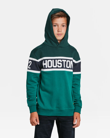 SWEAT-SHIRT HOUSTON  PRINT CAPUCHON GARÇON Vert mousse