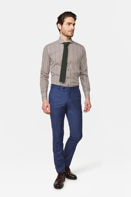 Heren regular fit pantalon Matera Blauw