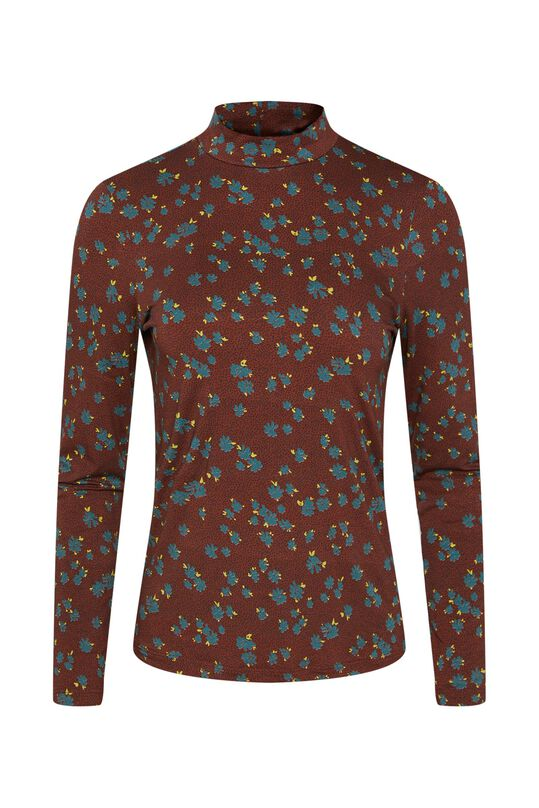 Dames top met col All-over print
