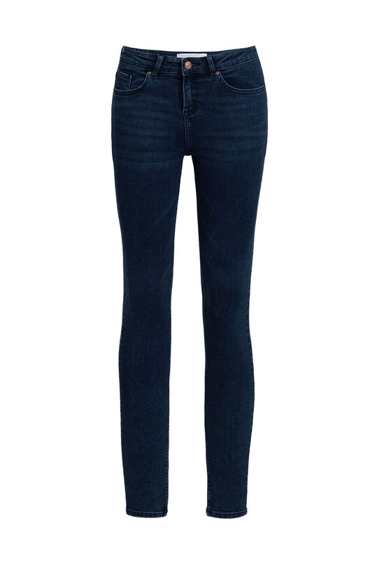 Dames super skinny jeans van super stretch Donkerblauw